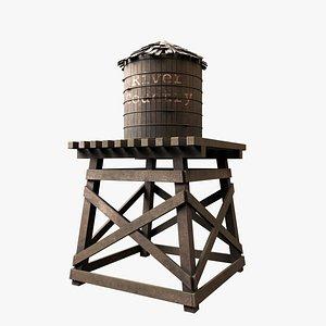 Old Water Tower V1 3D model
