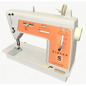 Singer 626 sewing machine 3D