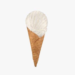 Ice cream cone 01 3D