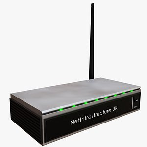 wifi wireless router 3D model