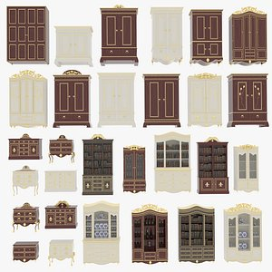 Victorian Dressers and Cabinets 3D model