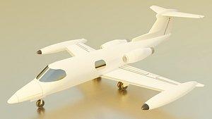 3D learjet jet model