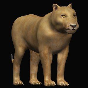 rigged female lion lioness 3D model