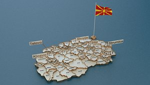 state flag 3D model