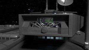 3D StarGate F-304 Daedalus Battlecruiser Bridge model