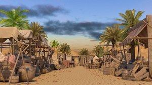 3D big arabian market - model
