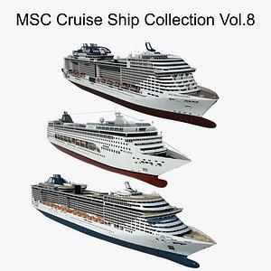 3D MSC Cruise Ship Collection Vol.8