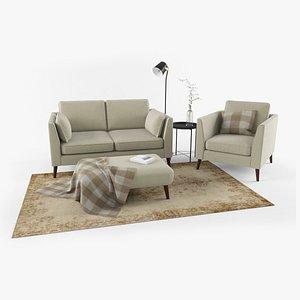 set sofa workshop 3D model