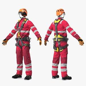 3D model Alpinist Worker Full Equipment