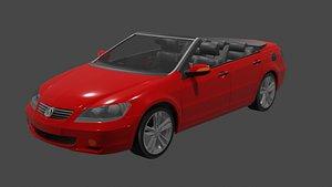 open sports car 3D model