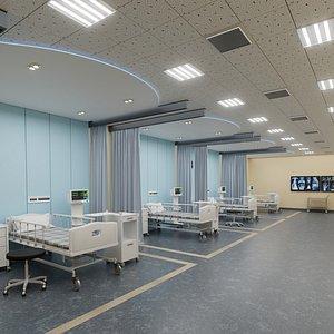 Hospital ICU model 3D