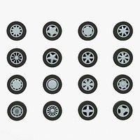Pack of 20 Unique Rims Tires for Car