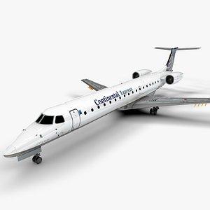 CONTINENTAL EXPRESS EMBRAER ERJ 145 L1508 3D model