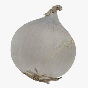 3D Onion White 04 RAW SCAN