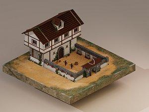 WarriorBarracksLevel5 3D