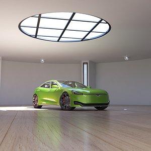 3D Car Studio Showroom