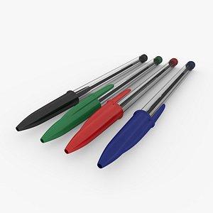 ballpoint pens 3D model