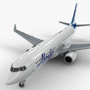 3D Boeing 737-8 MAX ALASKA Airlines L1340 model