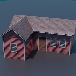 Classic american style house 2 3D model