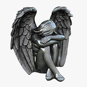 3D angel statuette statue