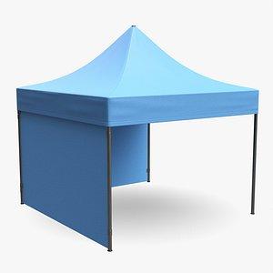 3D model mockup display tent