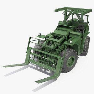 rough terrain military forklift 3D