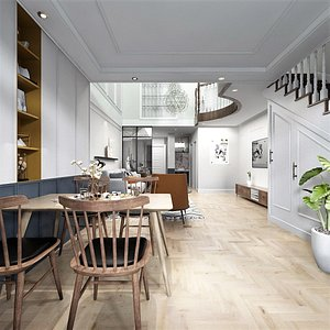 loft interior room 3D model