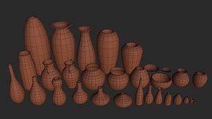 3D model mud pots