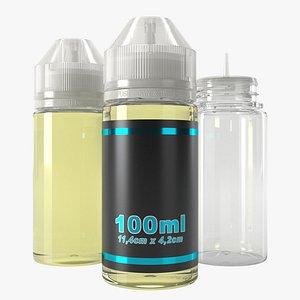 3D bottle 100ml model