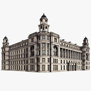3D Old War Office Building 8K PBR Textures