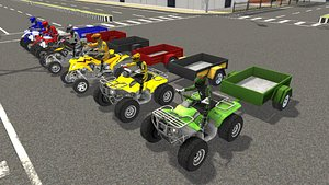 quad bike trailer 3D