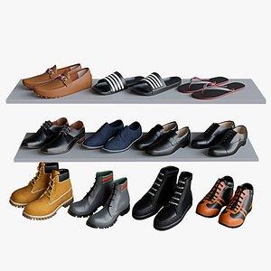 3D model Men shoes set 1