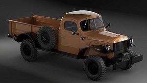 3D power wagon model