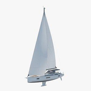 oceanis yacht 54 3D model
