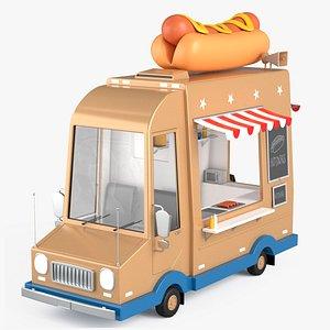 3D model Hot Dog Truck