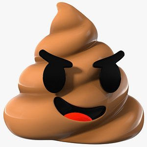 Smirk Poop Emoji Smile 3D model