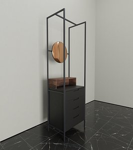 3D Alexandra Mirror Drawers MannMade London model