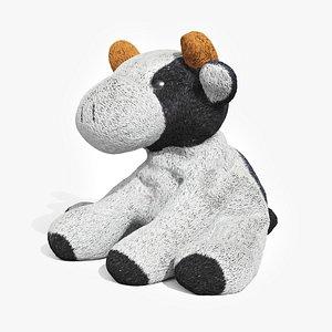 3D plush toy little cow