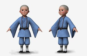 cartoon monk1 3D model