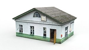 3D Old Soviet checkpoint model