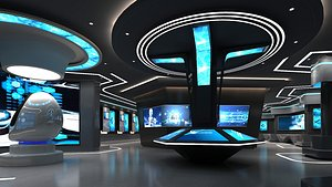 Modern Exhibition Hall 2 3D model