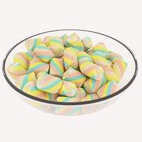 Candy Bowl Marshmellows
