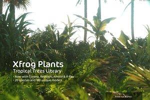 tropical dvd trees plants 3d model