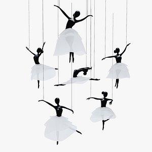 ballet hanging decoration 3D model