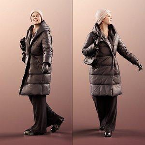 woman coat 3D model