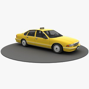 New York Yellow Taxi 3D model