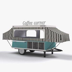 caravan coffee corner 3D model