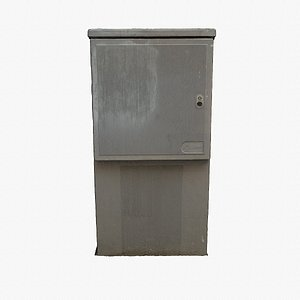 Ultra-realistic street electrical cabinet hy poly 3D model 3D
