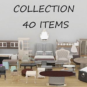 Collection of Modern Home Furniture 3D