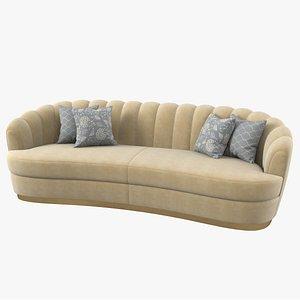 3D brabbu pearl sofa model